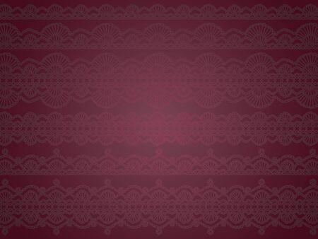 picot: Sofisticata lusso misterioso e delicato sfondo scuro viola con motivo a crochet trasparente