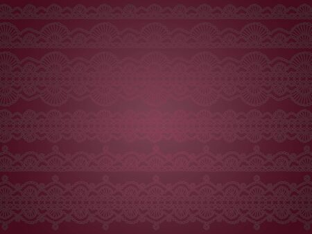 Sophisticated luxury misterious delicated dark purple background with translucent crochet pattern photo