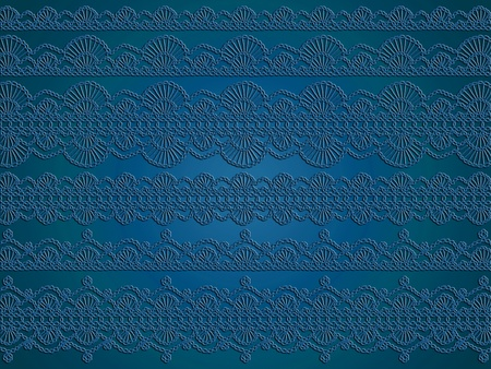 picots: Dark blue cian sophisticated luxurious background of wall paper with crochet illustration pattern