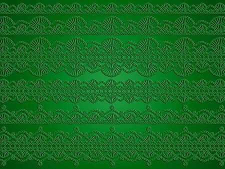 Green wallpaper with crochet transparent  beautiful pattern photo