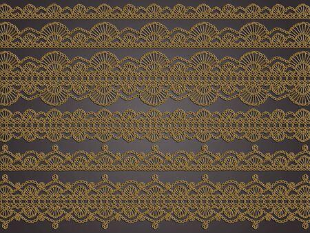 sobrio: Sobria elegancia de crochet en colores neutros como fondo