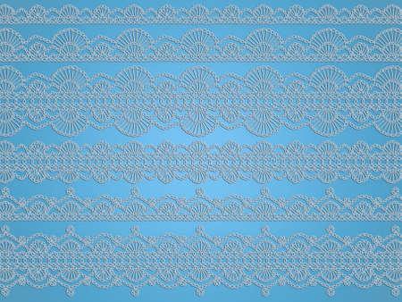Crochet Blanco Delicado Tejido De Fondo Patrón De Cordones Aislados ...
