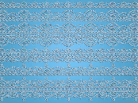 Ornamental elements or backgrounds for baby boy nativity with crochet laces delicacy photo