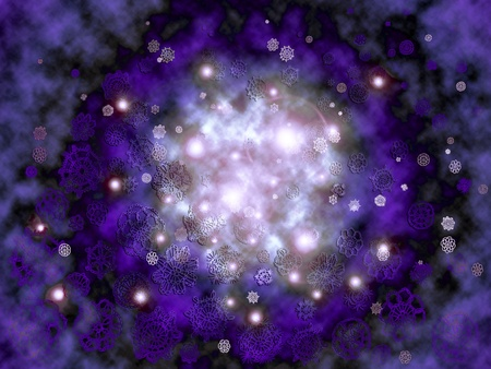 misteries: Starry magic misterious creative outer space or night sky view Stock Photo