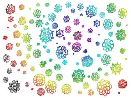 flores fucsia: arco iris de fondo Foto de archivo