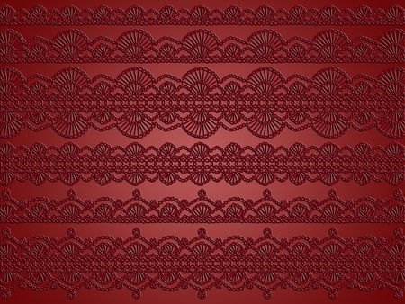 Brownish red monochrome sophisticated crochet patterns background Stock Photo - 12427182
