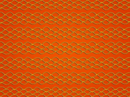 Tangerine orange background with simple crochet laces pattern photo