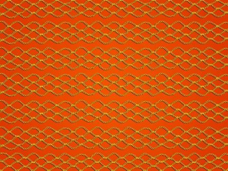 Tangerine Orange Hintergrund Mit Einfachen Spitzen Häkeln Muster ...