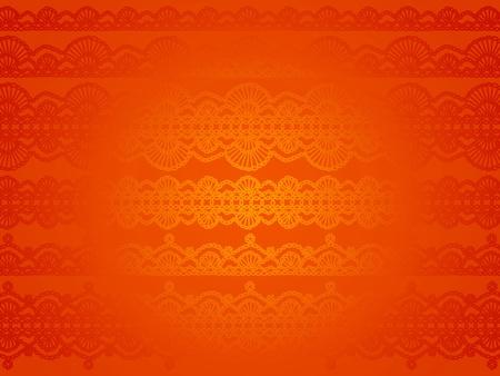 Effet satiné sur fond orange papier peint brillant soyeux avec crochet lacets modèle Banque d'images - 12427337