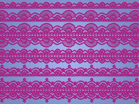 feminity: Femenine, feminity, delicacy, crochet, purple, lavender blue, patterns, fabrics