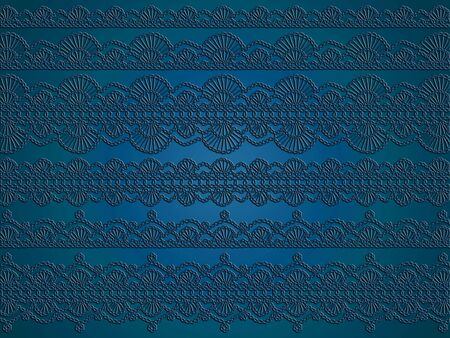 Dark beautiful elegant monochrome wallpaper with variety of crochet laces patterns photo