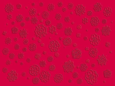 magentas: Redish magenta monochrome background with crochet flowers patterns texture