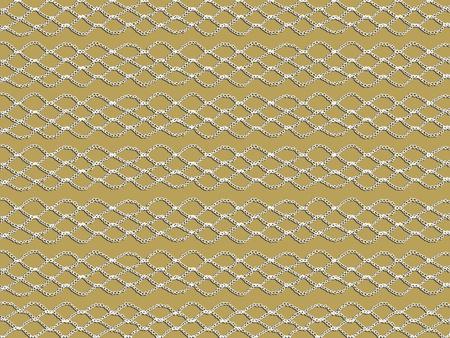 picot: Bianco schema uncinetto semplice e di base isolato su sfondo beige Archivio Fotografico