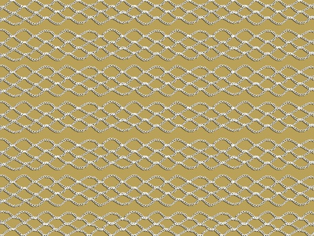 Weiß Einfache Und Grundlegende Häkeln Muster über Beige Hintergrund