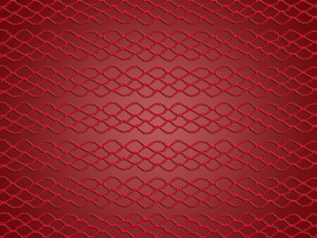 Elegance of simple crochet pattern in red over soft glossy background photo