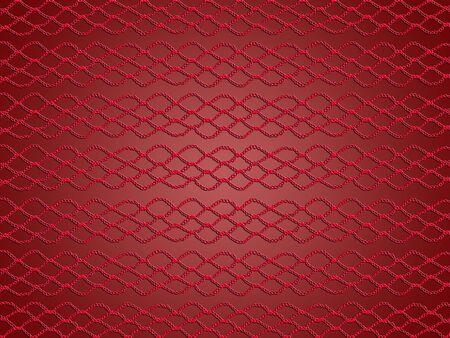 picot: L'eleganza del modello semplice crochet in rosso su sfondo lucido morbido