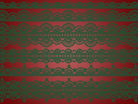 warmth: Elegant Xmas background with crochet laces warmth
