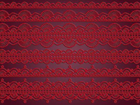 picot: Rosso e viola scuro eleganza in romantico carta da parati dell'annata