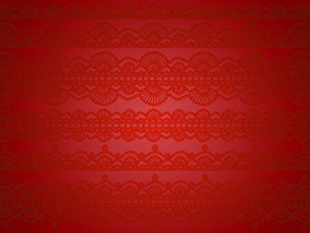 hilo rojo: Rojo brillante y sedoso navidad papel tapiz de fondo blanco y negro elegante Foto de archivo