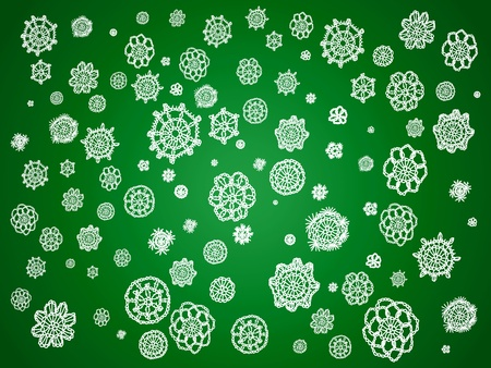 Tradition, traditions, vintage, crochet, crafts, green, xmas, Christmas, patterns, textures, wallpaper, background Stock Photo - 12623325