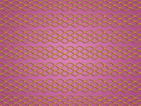 Gold crochet grating over sober pink background photo