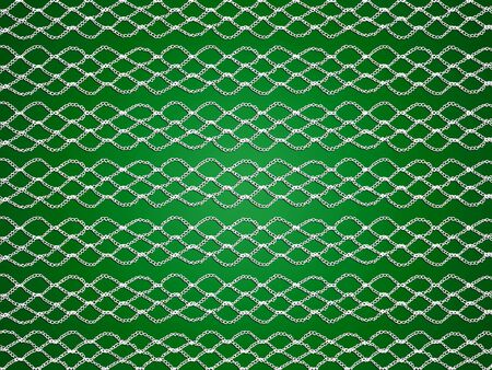 sofisticated: White crochet pattern isolated over green xmas background Stock Photo