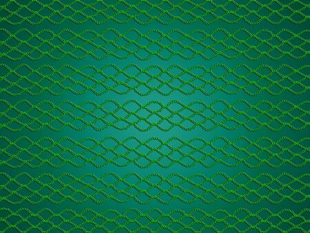 Green Christmas monochrome simple pattern with crochet grating