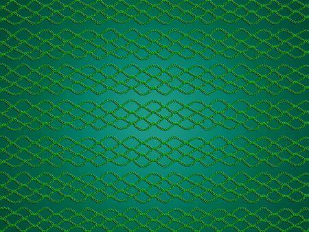 picot: Green Christmas monocromatico semplice modello con griglia crochet