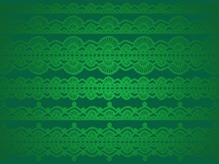 picot: Luminoso ed elegante verde Natale sfondo o wallpaper Archivio Fotografico