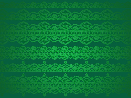 chained link: Luminous elegant green Christmas background or wallpaper