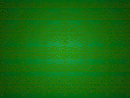 Green vintage paper with subtle crochet purls design