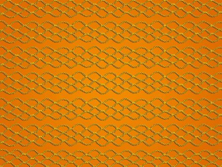 sofisticated: Yellow crochet grating texture over orange background