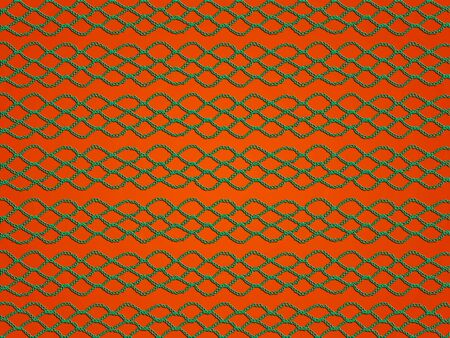 Green crochet grating texture over orange backdrop photo