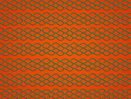 digitals: Green crochet grating texture over orange backdrop
