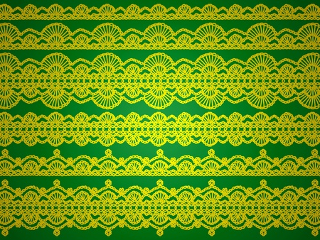 sofisticated: Yellow designs isolated over green background as xmas paper, wallpaper or background