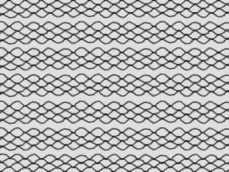 picot: Tessitura crochet nero isolato su sfondo grigio