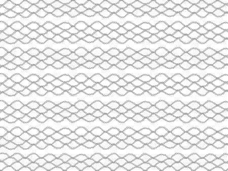 picots: Basic crochet grating isolated over white background Stock Photo