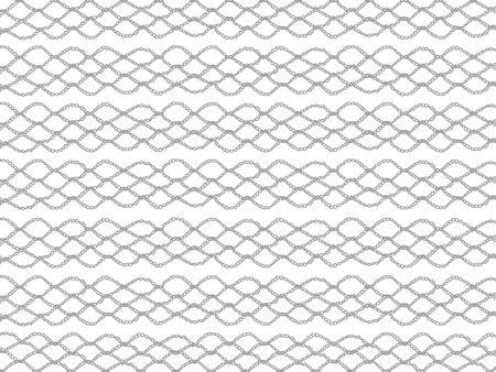 bn: Basic crochet grating isolated over white background Stock Photo