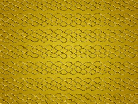 sofisticated: Gold elegant simple background with crochet links in web Stock Photo