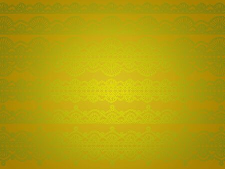 Uniqueness of greenish elegant crochet laces over golden background photo