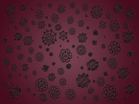 misteries: Flower, flowers, dark, darkish, black, purple, wallpaper, background