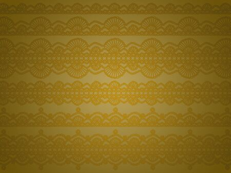 picots: Greenish brown background with elegant crochet designs