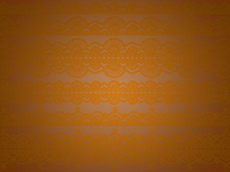 Subtle Sober Elegant Unique Background With Soft Orange Old Crochet