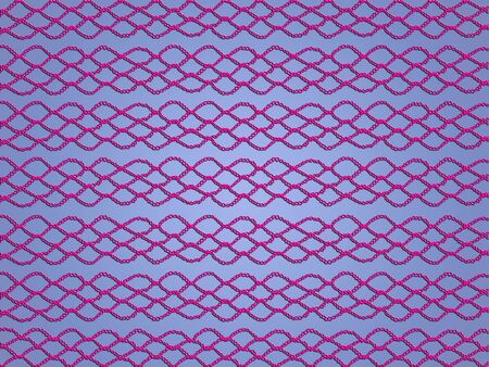 sofisticated: Pink crochet web over light blue backdrop