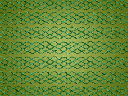 Beautiful Christmas background in green tones with crochet web