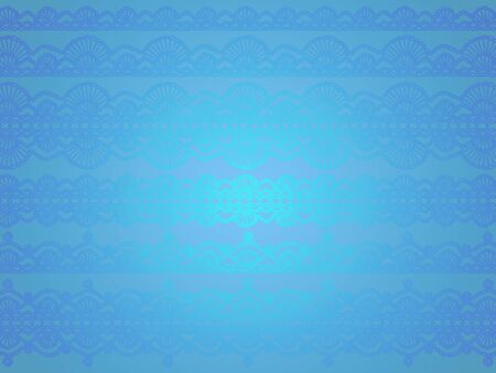 Antique crochet designs background in luminous satinated blue with glitter photo