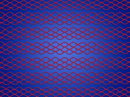 Red crochet pattern over blue background photo