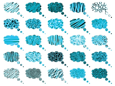 Cloud computing, pattern, set, bunch, clouds, background Stock Photo - 12622566
