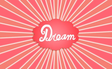 Dream, cloud, radial rays, red Stock Photo - 12807726