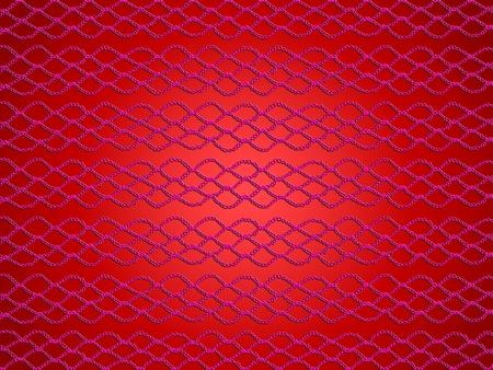 picot: Fondo rosso con web crochet semplice Archivio Fotografico